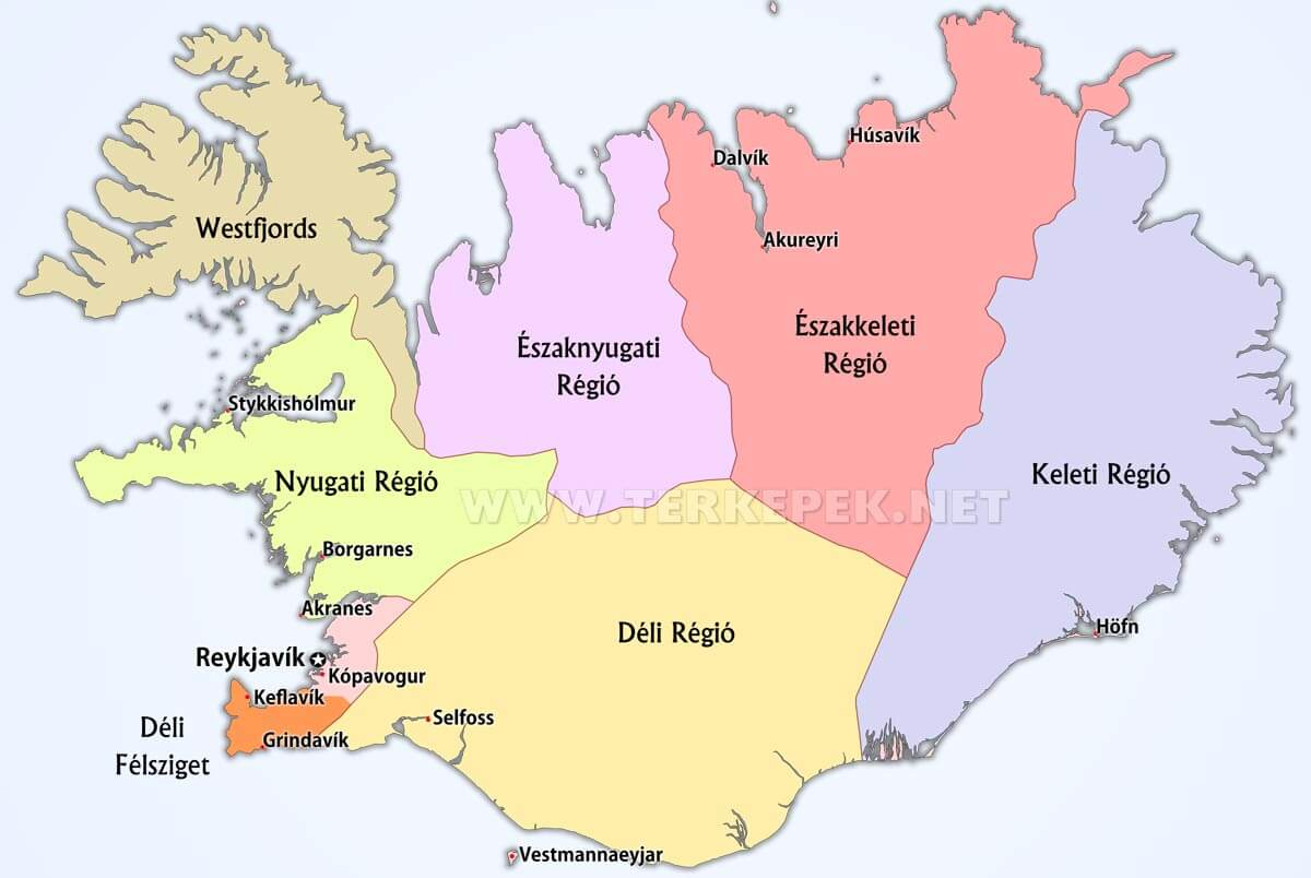 izland térkép Izland térképek izland térkép